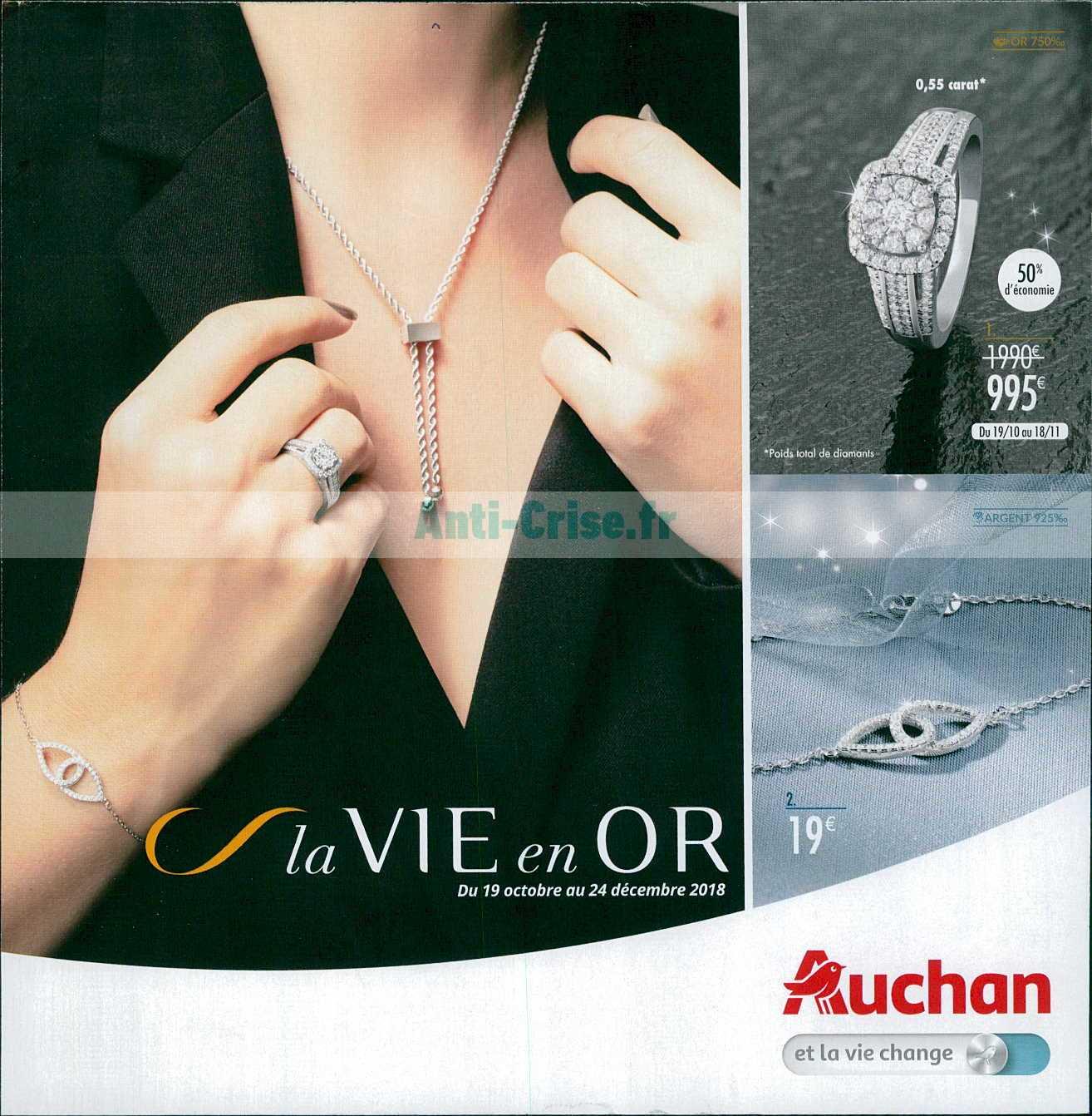 comparer les prix 50% de réduction matériau sélectionné Catalogue Auchan du 19 octobre au 24 décembre 2018 (Bijoux ...
