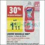 Bon Plan Liquide Vaisselle Mir chez Carrefour Market (16/10 - 28/10) - anti-crise.fr