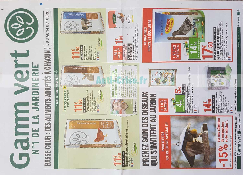 Catalogue Gamm Vert Du 03 Au 14 Octobre 2018 Catalogues Promos Bons Plans Economisez Anti Crise Fr