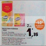 Bon Plan Protège-Slip ou Serviettes Vania chez Leclerc (23/10 - 03/11) - anti-crise.fr