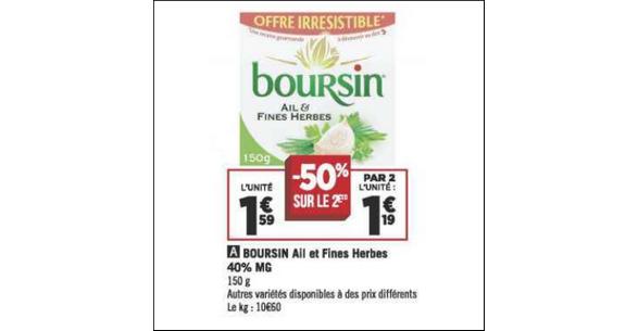 Bon Plan Boursin à Tartiner chez Géant Casino - anti-crise.fr