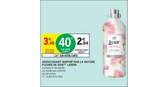 Bon Plan Adoucissant Lenor chez Intermarché (04/12 - 09/12) - anti-crise.fr