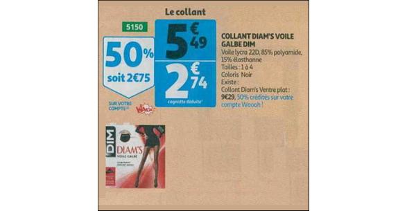 Bon Plan Collants Diam's de Dim chez Supermarché Auchan - anti-crise.fr