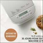 Offre d'Essai Panasonic : Machine à pain Croustina Satisfait ou 100% Remboursé - anti-crise.fr