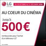 Offre de Remboursement LG : Jusqu'à 500€ Remboursés sur Téléviseur OLED ou UHD - anti-crise.fr
