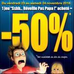Offre de Remboursement Goliath : 50% Remboursés sur Sshh… Réveille pas Papa ! - anti-crise.fr