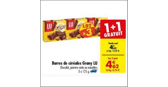 Bon Plan Barres de Céréales Grany chez Carrefour - anti-crise.fr