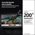 Offre de Remboursement Samsung : Jusqu'à 200€ Remboursés sur TV QLED ou 4K UHD - anti-crise.fr