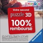 """Offre de Remboursement Ravensburger : Second Puzzle 3D 100% Remboursé chez Toys """"R"""" Us - anti-crise.fr"""