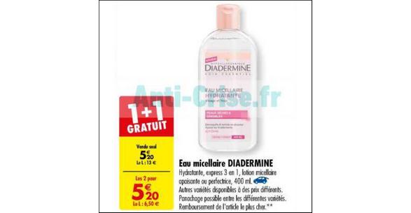 Bon Plan Eau Micellaire Diadermine chez Carrefour - anti-crise.fr