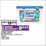 Bon Plan Lessive Super Croix Capsules chez Casino - anti-crise.fr