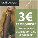 Offre de Remboursement Le Bourget : 3€ Remboursés sur 2 Produits Bio - anti-crise.fr