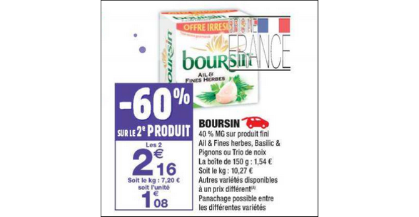 Bon Plan Boursin à Tartiner chez Carrefour Market - anti-crise.fr
