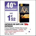 Bon Plan Capsules L'or Espresso Compatibles Nespresso chez Carrefour Market - anti-crise.fr