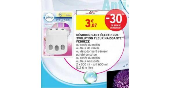 Bon Plan Désodorisant Electrique 3volution Febreze hez Intermarché - anti-crise.fr