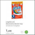Bon Plan Lingettes Décolor Stop chez Carrefour - anti-crise.fr