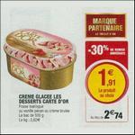 Bon Plan Crème Glacée Les Desserts Carte d'Or chez Magasins U - anti-crise.fr