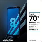 Offre de Remboursement Samsung : Jusqu'à 70€ remboursés sur Galaxy A8 ou A6 - anti-crise.fr