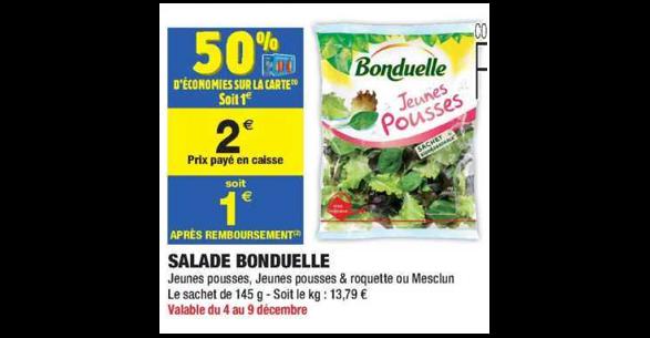 Bon Plan Salade Bonduelle chez Carrefour Market (04/12 - 16/12) - anti-crise.fr