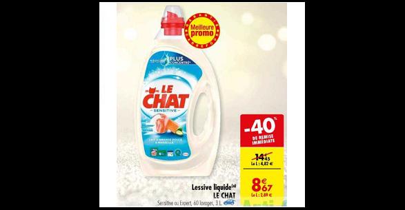 Bon Plan Lessive Liquide Le Chat chez Carrefour (04/12 - 10/12) - anti-crise.fr