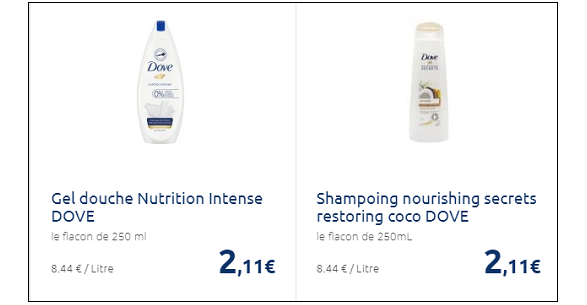 Bon Plan Douche & Shampoing Dove chez Carrefour - anti-crise.fr
