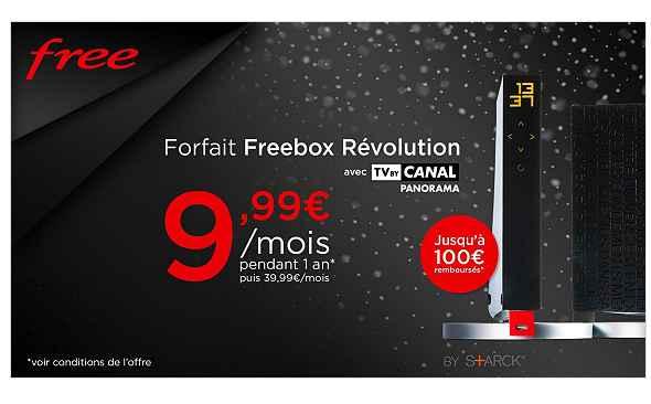 9,99€ par mois l'abonnement Freebox Revolution