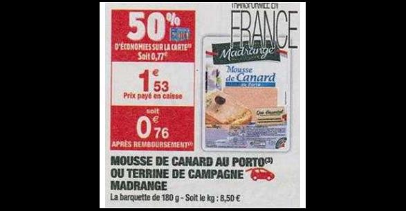 Bon Plan Mousse Madrange chez Carrefour Market (20/11 - 25/11) - anti-crise.fr