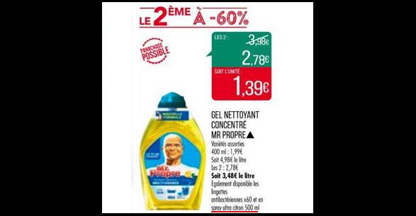 Bon Plan Spray Ultra Power Mr Propre chez Match (20/11 - 25/11) - anti-crise.Fr