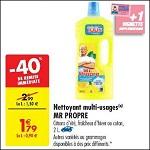 Bon Plan Nettoyant Liquide Mr Propre chez Carrefour (06/11 - 12/11) - anti-crise.fr
