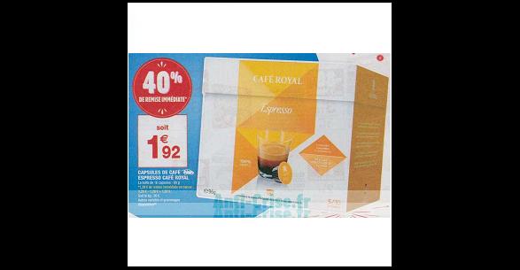 Bon Plan Capsules De Café Royal Compatibles Dolce Gusto Chez