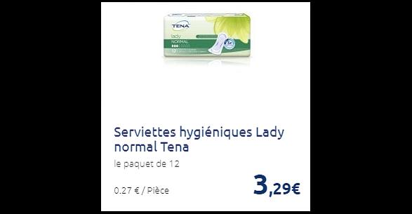 Bon Plan Serviettes Lady Tena Partout - anti-crise.fr