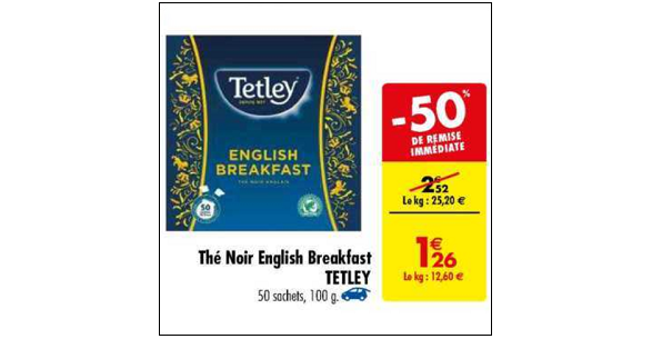 Bon Plan Thé Noir English Breakfast Tetley chez Carrefour (27/11 - 03/12) - anti-crise.FR