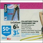 Bon Plan Collants Body Touch Transparent de Dim chez Auchan (21/11 - 27/11) -anti-crise.fr
