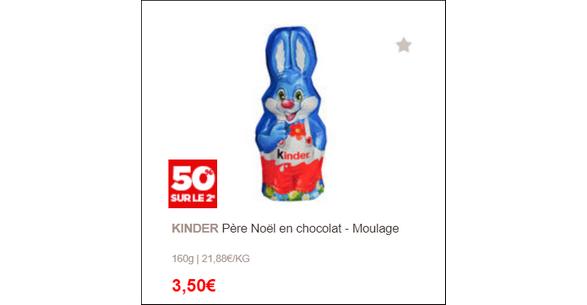 Bon Plan Moulage en Chocolat 160g chez Géant Casino - anti-crise.fr