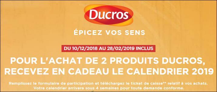 Achat Calendrier 2019.Bon Plan Ducros Calendrier 2019 Offert Catalogues Promos