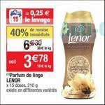 Bon Plan Parfum de Linge Lenor Unstoppables chez Cora - anti-crise.fr