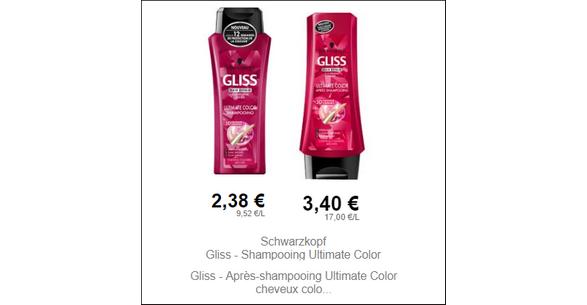Bon Plan Shampooing et Après-Shampooing Gliss chez Intermarché - anti-crise.fr