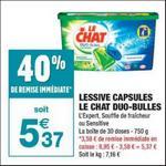 Bon Plan Lessive Le Chat Capsules chez Carrefour Market - anti-crise.fr
