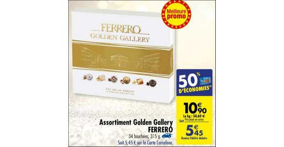 Bon Plan Chocolats Ferrero Golden Gallery chez Carrefour - anti-crise.fr