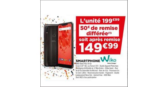 Bon Plan Smartphone Wiko View2 Plus chez Géant Casino - anti-crise.fr