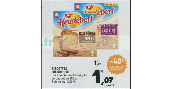 Bon Plan Biscottes Heudebert chez Leclerc Nord-Est - anti-crise.fr
