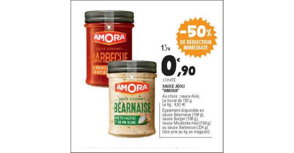 Bon Plan Sauce Amora chez Leclerc Est - anti-crise.fr