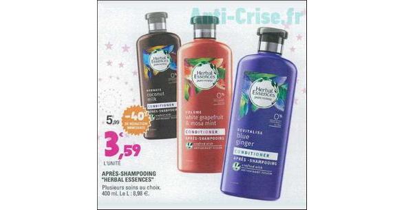 Bon Plan Après-Shampooing Herbal Essence chez Leclerc Centre-Est - anti-crise.fr