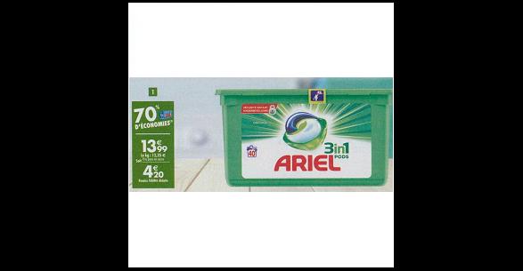 Bon Plan Lessive Ariel Pods 3en1 chez Carrefour (26/12 - 14/01) - anti-crise.fr