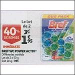 Bon Plan Bloc WC Bref chez Auchan (26/12 - 31/12) - anti-crise.Fr