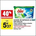 Bon Plan Lessive Le Chat Capsules chez Carrefour Market (02/01 - 13/01) - anti-crise.fr