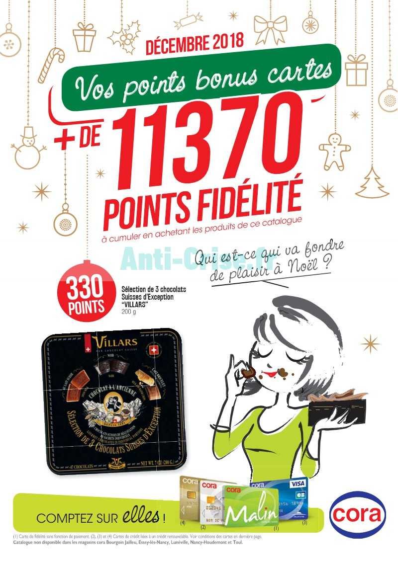 Carte Cora Et Points Fidelite.Catalogue Cora Du 01 Au 31 Decembre 2018 Points Fidelite