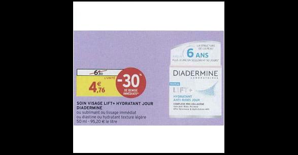 Bon Plan Soin Lift+ de Diadermine chez Intermarché (11/12 - 16/12) - anti-crise.fr