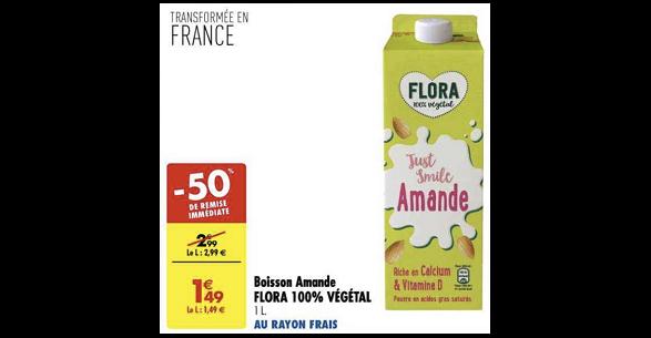 Bon Plan Boisson Végétale Flora chez Carrefour (11/12 - 24/12) - anti-crise.fr