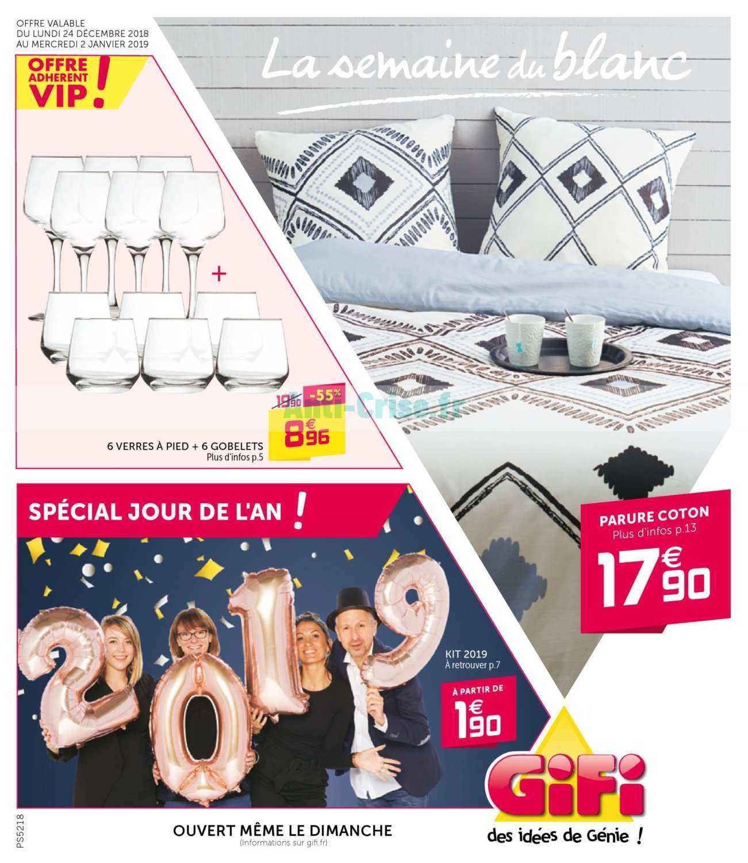 Catalogue Gifi Du 24 Décembre 2018 Au 02 Janvier 2019